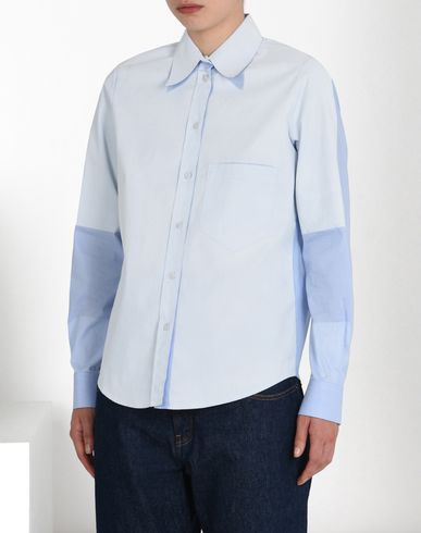 MM6 by MAISON MARGIELA Long sleeve shirt D Poplin shirt with contrasting detail f