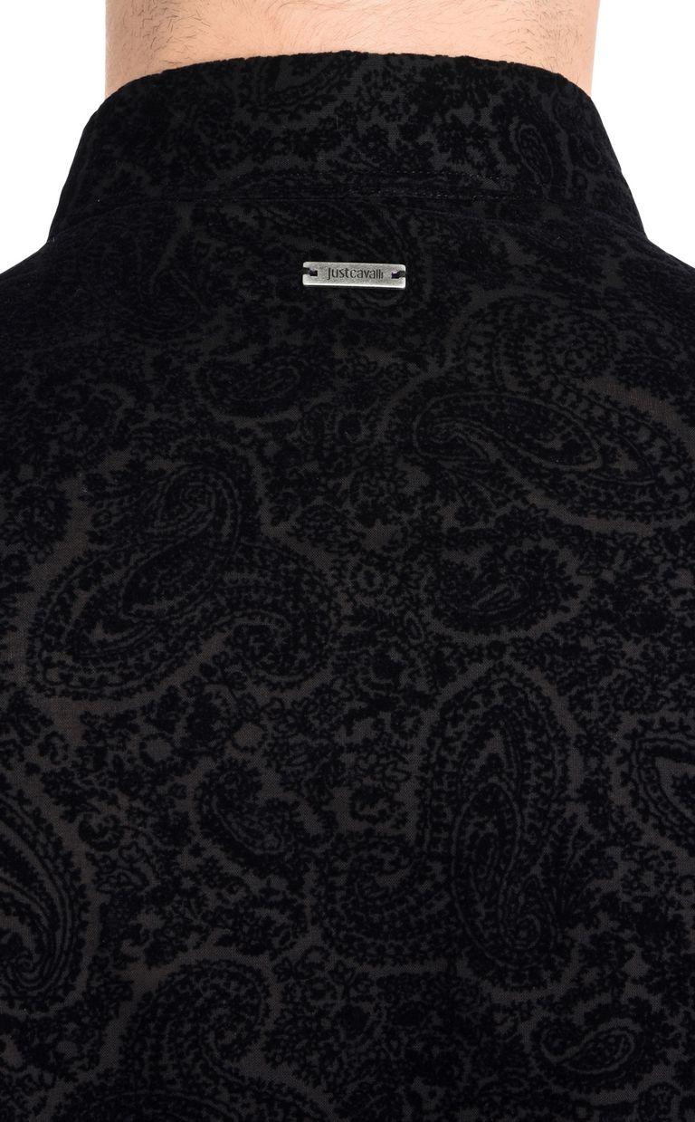 JUST CAVALLI Two-tone pattern shirt Long sleeve shirt U e