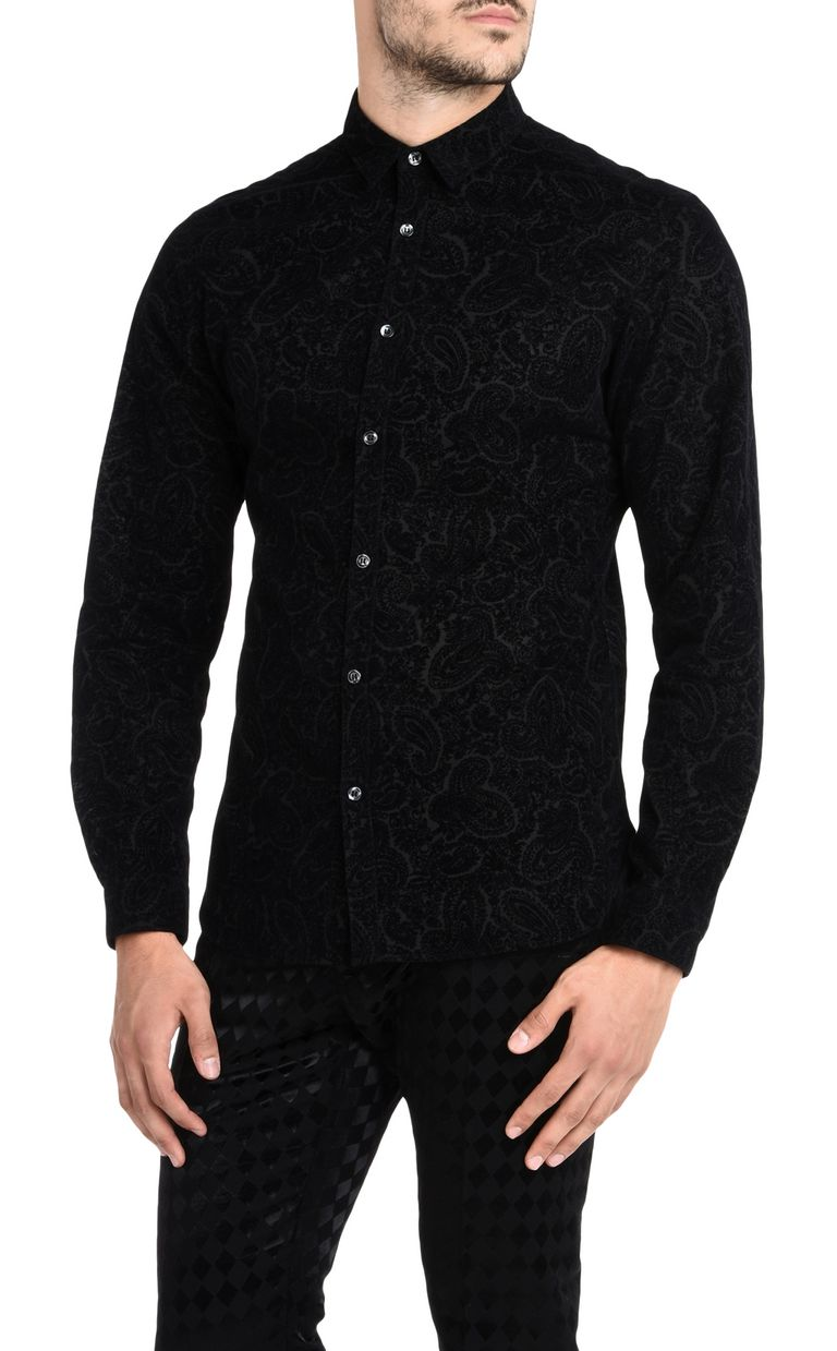 JUST CAVALLI Two-tone pattern shirt Long sleeve shirt U f
