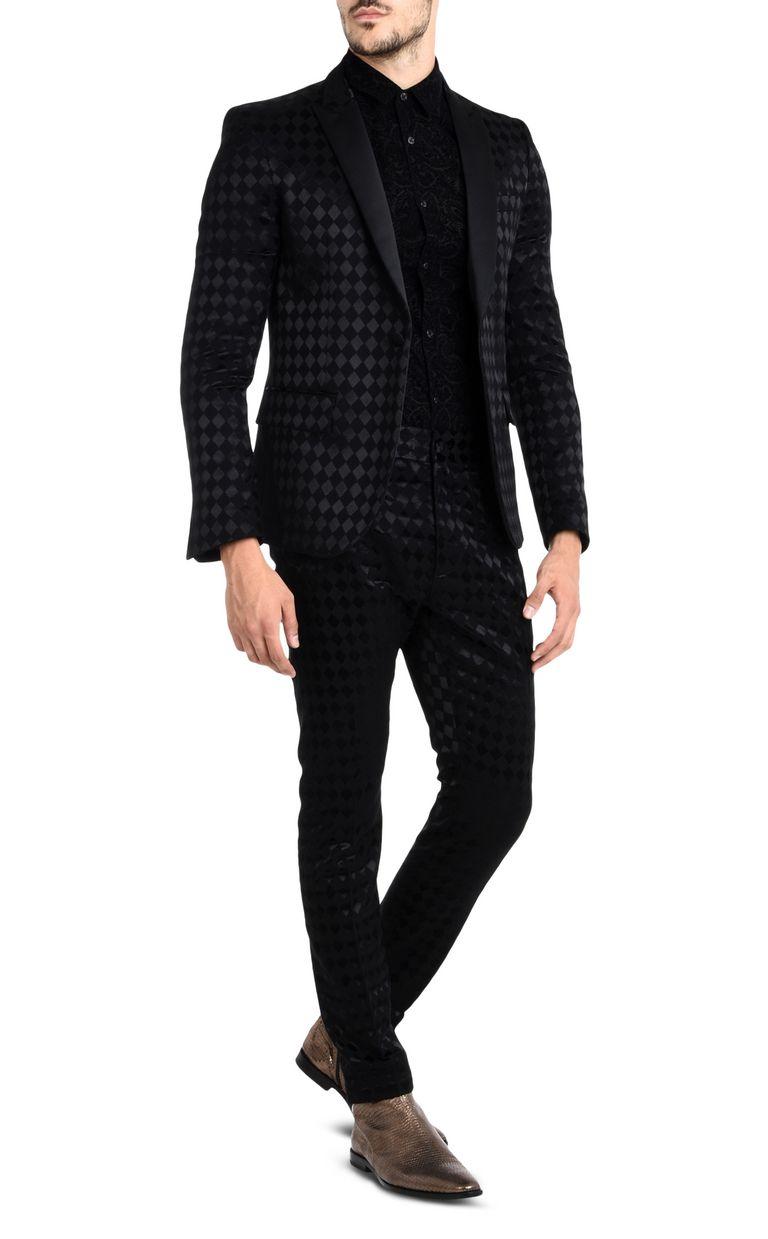 JUST CAVALLI Two-tone pattern shirt Long sleeve shirt U r