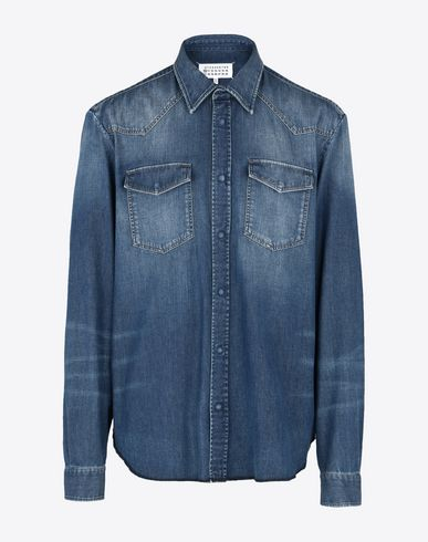 MAISON MARGIELA Denim shirt U Straight fit denim shirt f