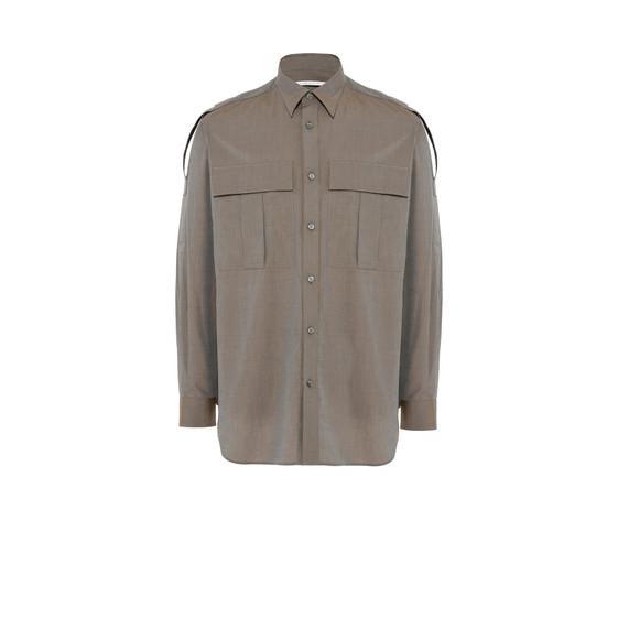 Beige Slay Military Shirt