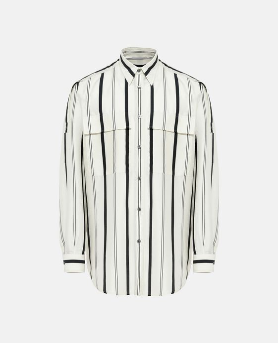 White Striped Slay Shirt