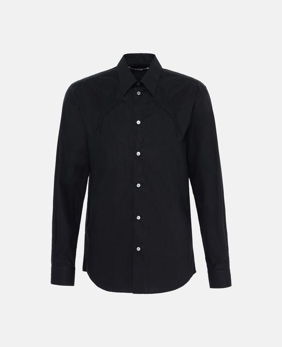 Chemise noire avec hirondelles