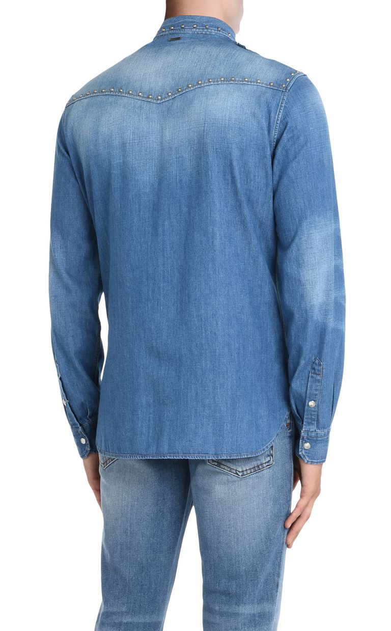 JUST CAVALLI Denim shirt with detailing Denim shirt Man d