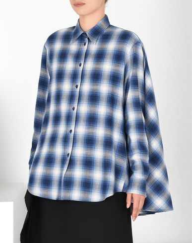 MM6 by MAISON MARGIELA Long sleeve shirt D Oversized cotton flannel shirt f