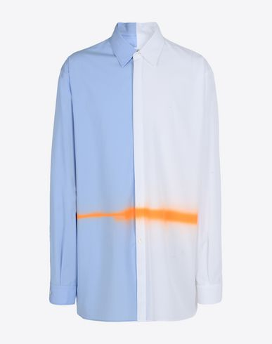 MAISON MARGIELA Long sleeve shirt U Spray paint cotton poplin shirt f