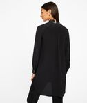 KARL LAGERFELD Silk Tunic W/ Leather Trim 8_d