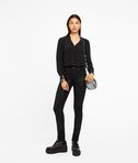 KARL LAGERFELD Silk Tunic W/ Leather Trim 8_e