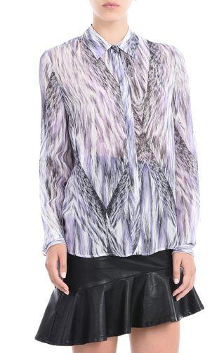 JUST CAVALLI Long sleeve shirt D Printed blouse   f