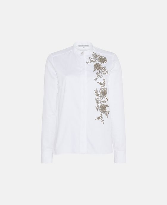 Lea White Beaded Shirt