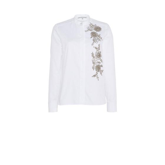Weißes Hemd Lea mit Perlen