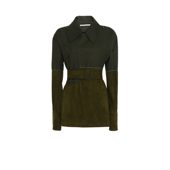 Keyla Green Suede Shirt
