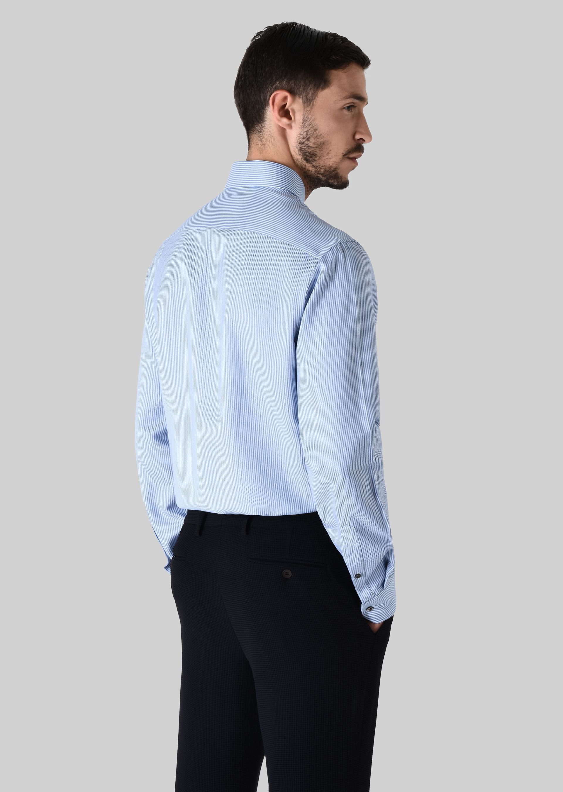 GIORGIO ARMANI FRENCH COLLAR COTTON SHIRT Classic Shirt U e