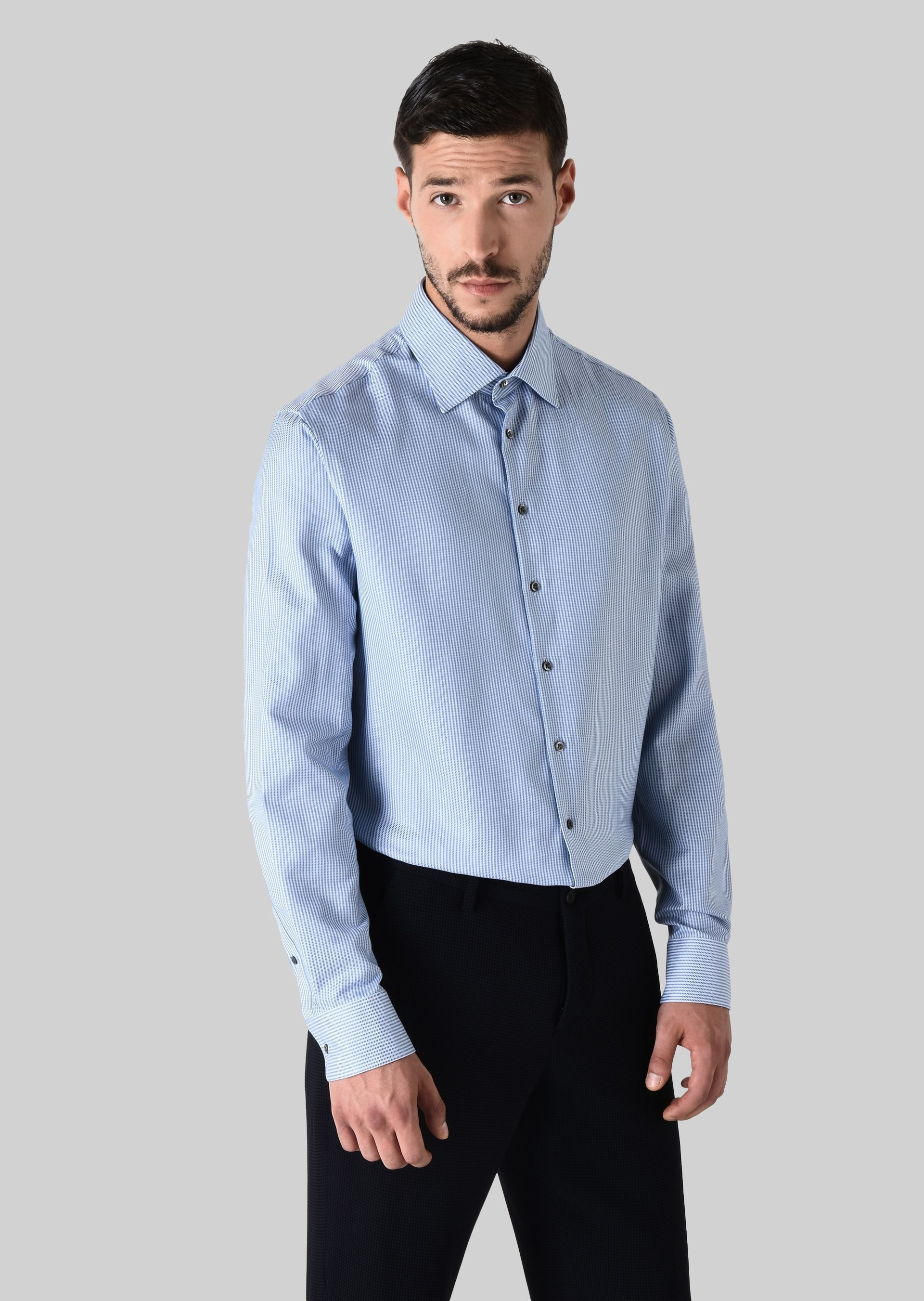GIORGIO ARMANI FRENCH COLLAR COTTON SHIRT Classic Shirt U f