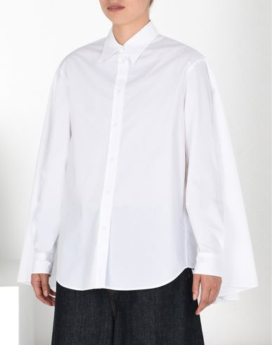 MM6 by MAISON MARGIELA Long sleeve shirt D Straight-cut cotton poplin shirt f