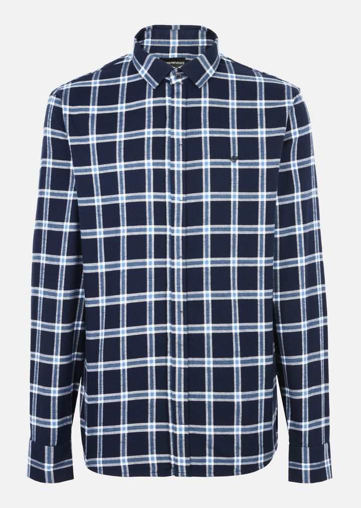 Emporio Armani Embroidered checked shirt kXJnbxyyy6