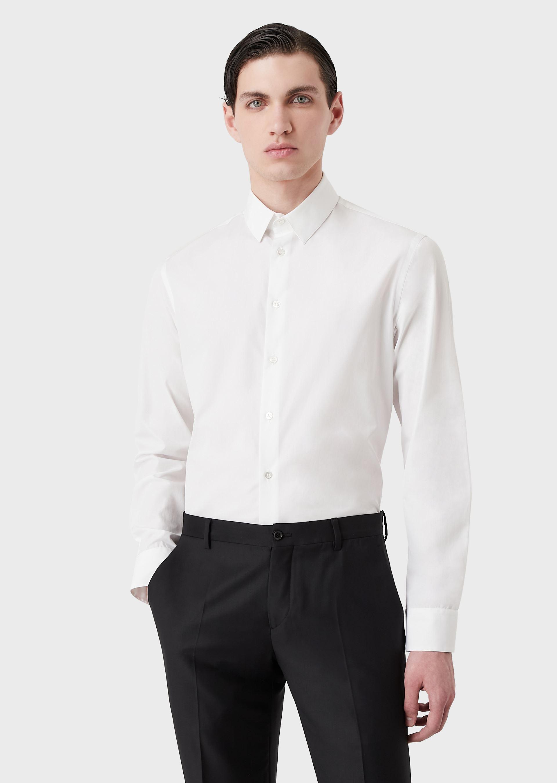 GIORGIO ARMANI CLASSIC COLLAR COTTON SHIRT Casual Shirt U d