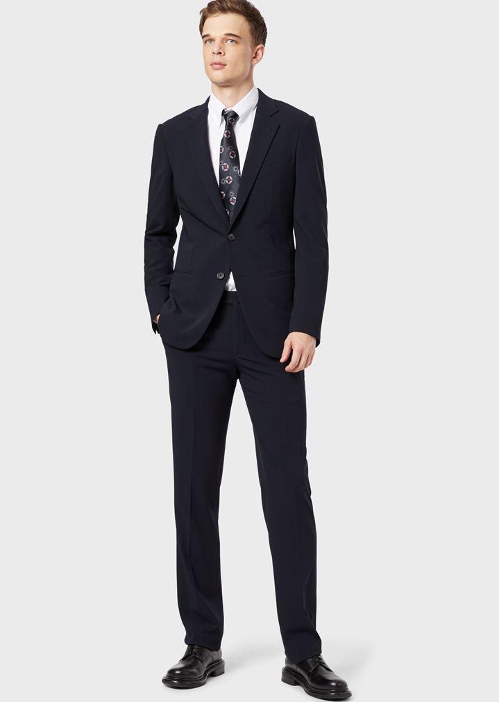 c7ef4e65f18 GIORGIO ARMANI CLASSIC COLLAR STRETCH COTTON BLEND SHIRT Casual Shirt Man r