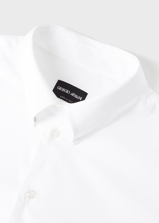 GIORGIO ARMANI CLASSIC COLLAR STRETCH COTTON BLEND SHIRT Casual Shirt U a