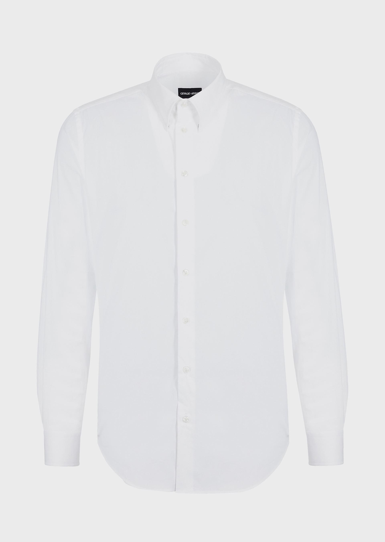 GIORGIO ARMANI CLASSIC COLLAR STRETCH COTTON BLEND SHIRT Casual Shirt U d