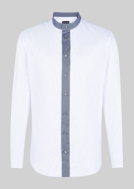 MANDARIN COLLAR COTTON SHIRT