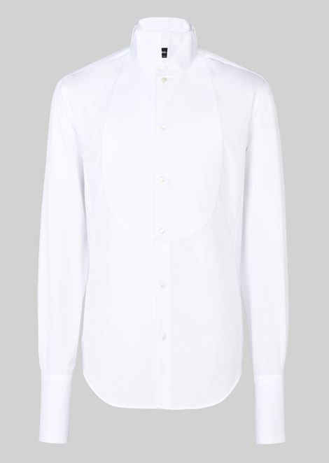 Tuxedo shirt in cotton