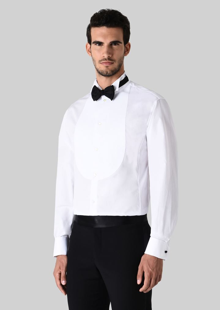 Tuxedo Shirt In Cotton Man Giorgio Armani