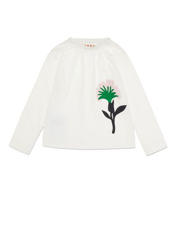 Marni JERSEY T-SHIRT WITH FLOWER PRINT Woman