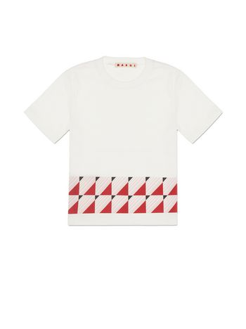 Marni JERSEY T-SHIRT WITH GEOMETRIC PRINT Woman