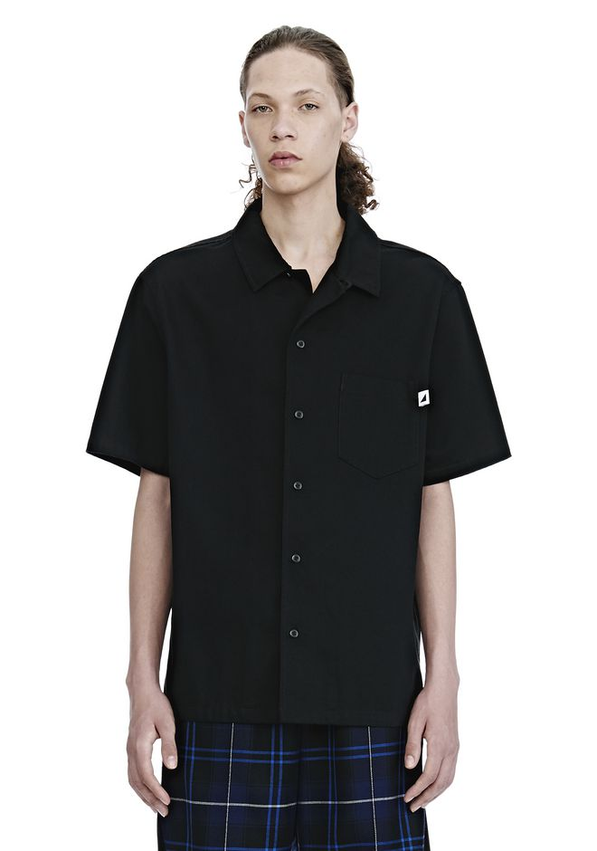 ALEXANDER WANG SHIRTS Men COTTON GABARDINE SHORT SLEEVE SHIRT
