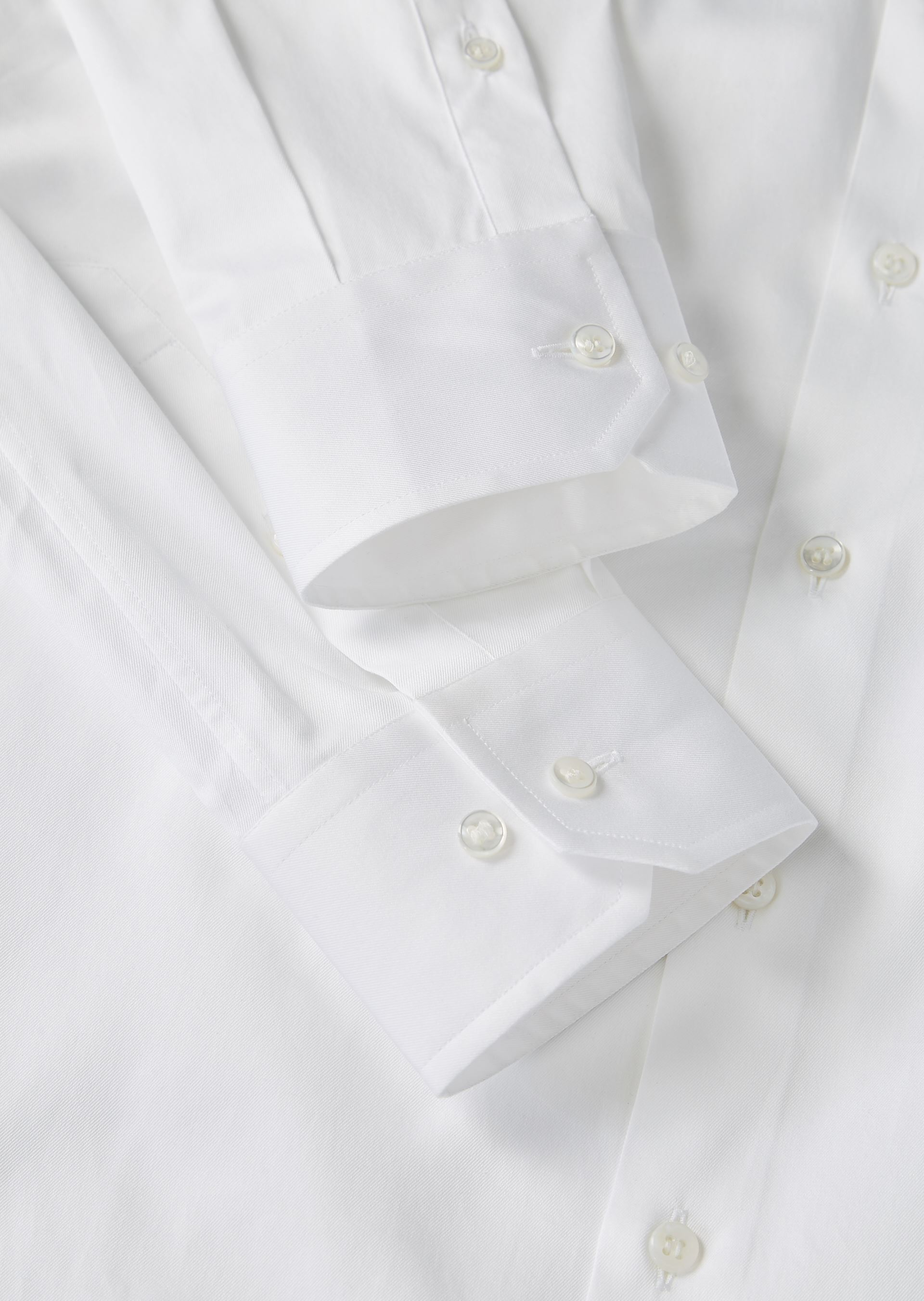 GIORGIO ARMANI FRENCH COLLAR COTTON TWILL SHIRT Classic Shirt U a