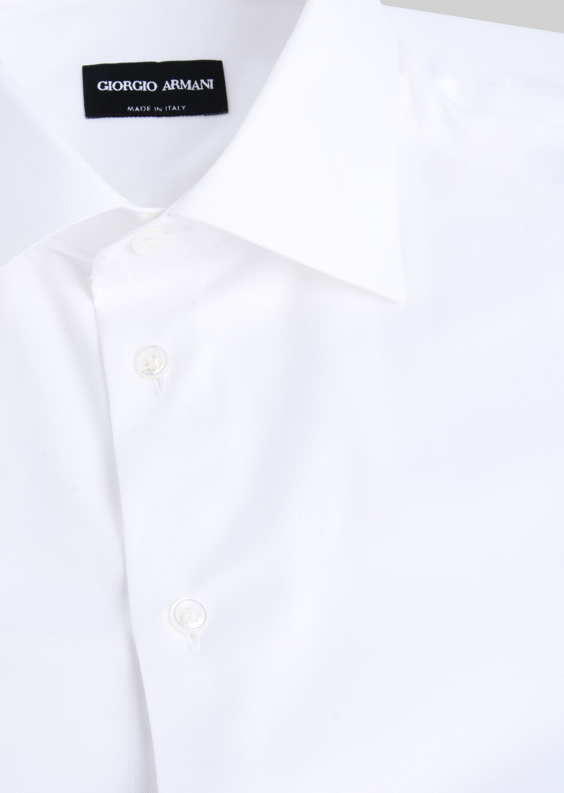 GIORGIO ARMANI FRENCH COLLAR COTTON TWILL SHIRT Classic Shirt U c