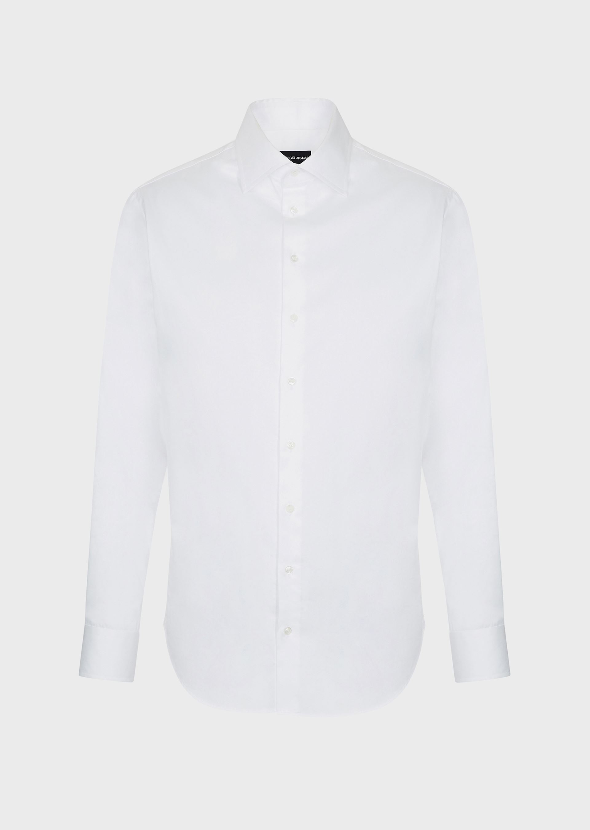 GIORGIO ARMANI FRENCH COLLAR COTTON TWILL SHIRT Classic Shirt U d