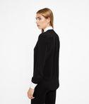 KARL LAGERFELD Contrast Bib Silk Shirt 8_d