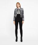 KARL LAGERFELD Contrast Bib Silk Shirt 8_e