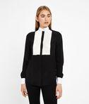 KARL LAGERFELD Contrast Bib Silk Shirt 8_f