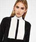KARL LAGERFELD Contrast Bib Silk Shirt 8_r