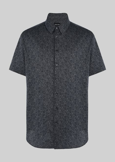 COTTON JERSEY JACQUARD SHIRT