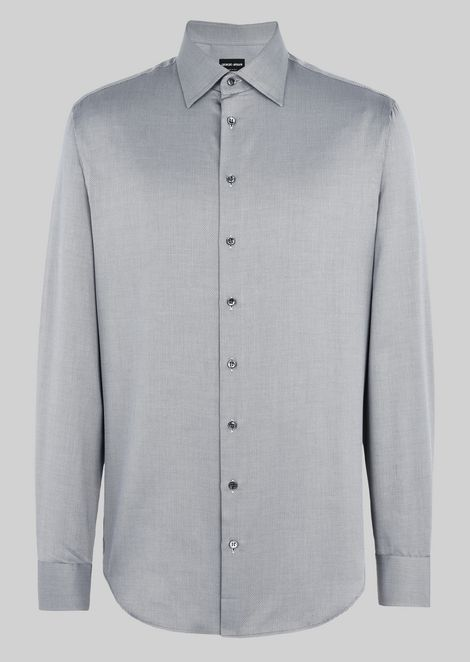 FRENCH COLLAR COTTON SHIRT
