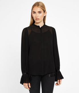 KARL LAGERFELD PLEATED SLEEVE BLOUSE