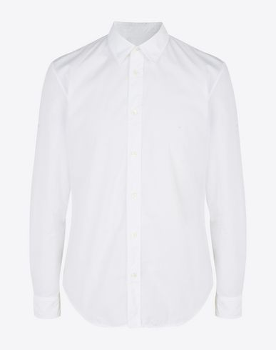 MAISON MARGIELA Long sleeve shirt Man Cotton poplin button-up shirt f