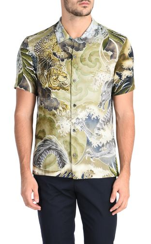 JUST CAVALLI Short sleeve shirt U Short-sleeved New World shirt f