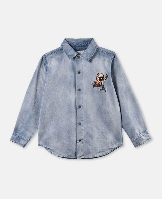Enzo Washed Denim Shirt