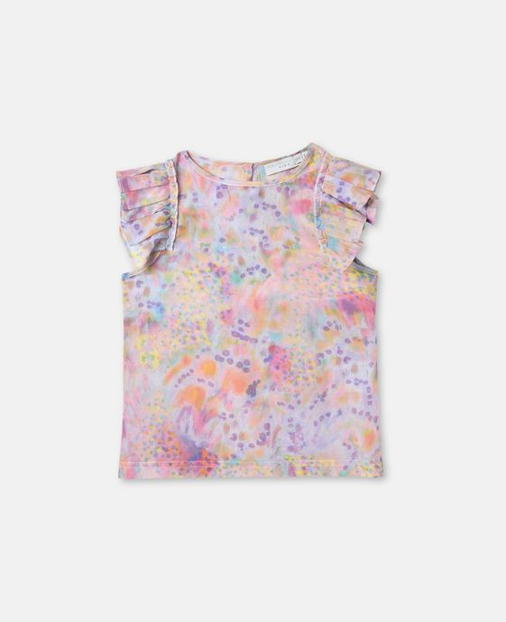 Kitty Marble Print Top