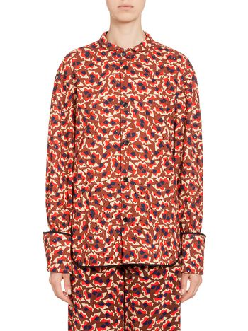 Marni Shirt in broderie anglaise with Metropolis print Woman