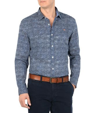 NAPAPIJRI GOTAN MAN LONG SLEEVE SHIRT,DARK BLUE