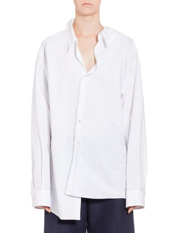 Marni Cotton shirt with white asymmetric collar Woman