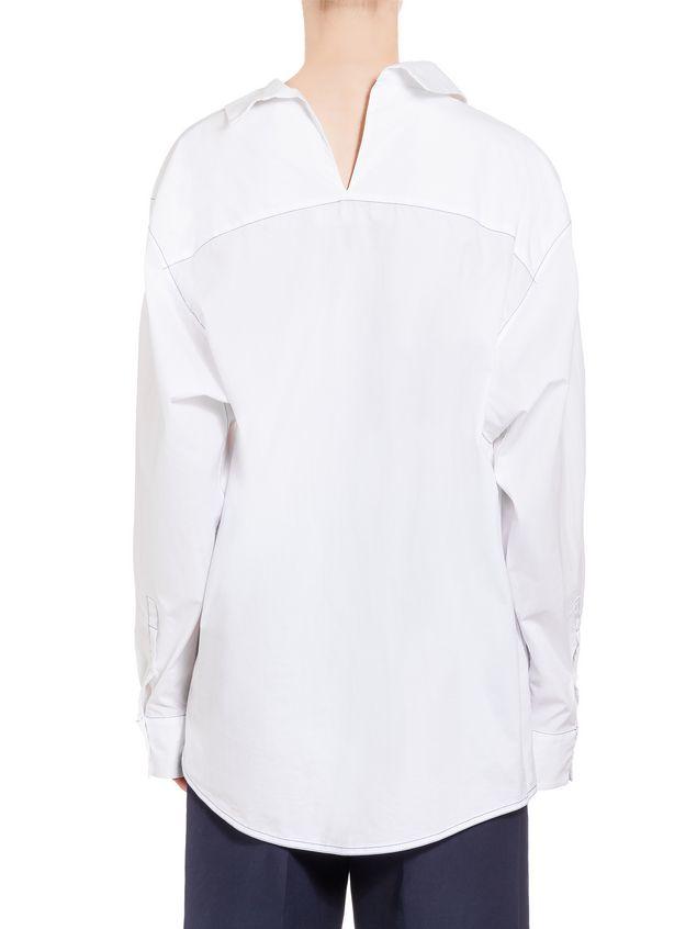 Marni Cotton shirt with white asymmetric collar Woman