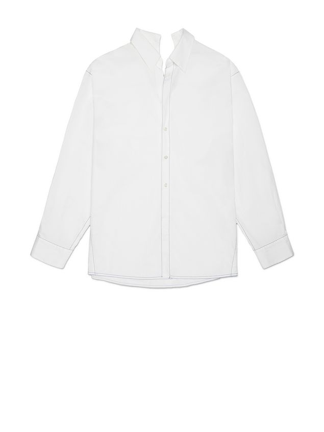 Marni Cotton shirt with white asymmetric collar Woman - 2